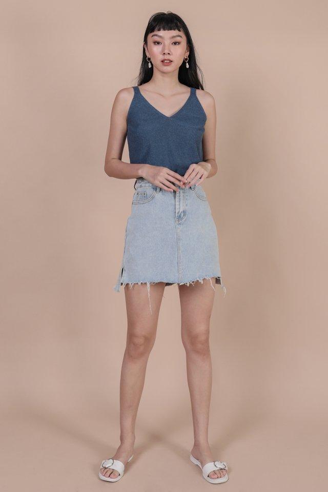 Carlos Knit Tank (Slate Blue)