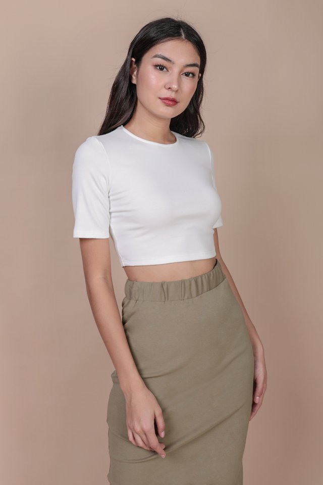 Eddie Sleeve Top (White)