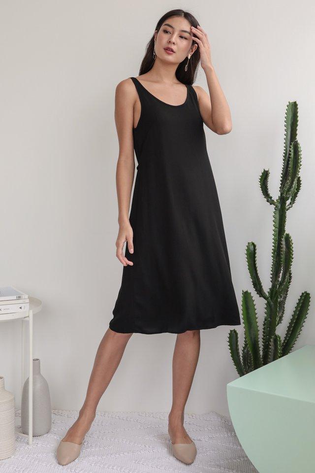Glenda Midi Dress (Black)