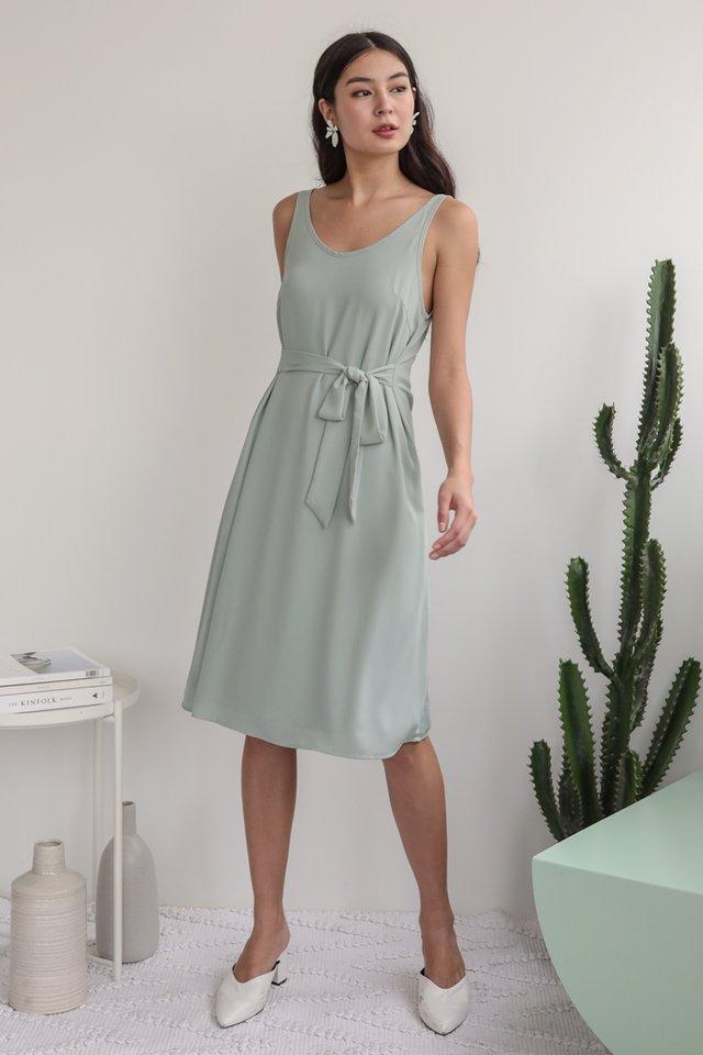 Glenda Midi Dress (Light Seafoam)