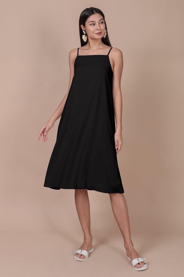 Lyra Tent Dress (Black)