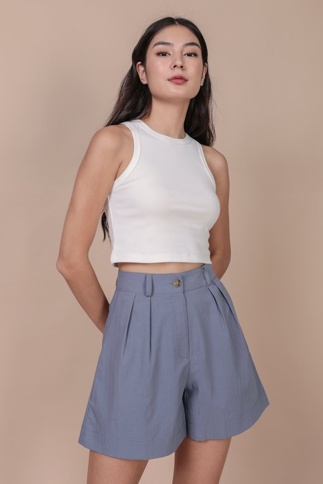Bravo Racercut Top (White)