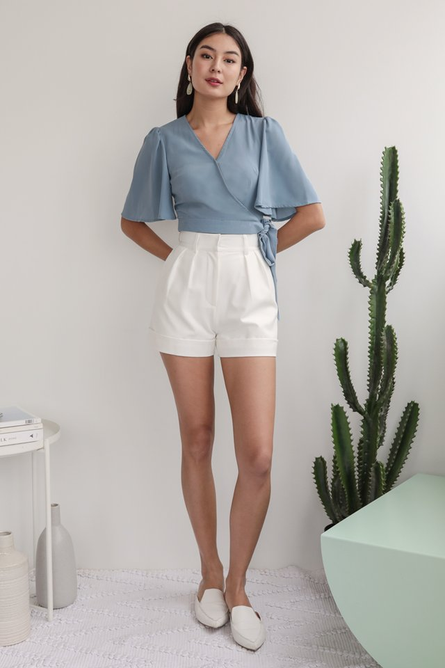 Nella Wrap Front Top (Sky Blue)