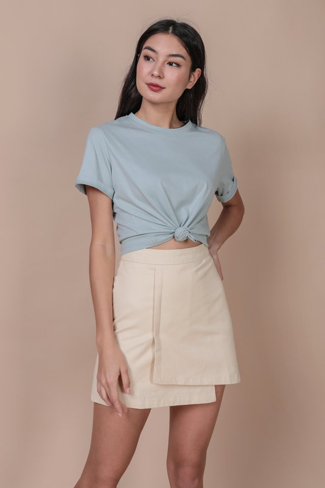 Louie Asymmetrical Skirt (Cream)