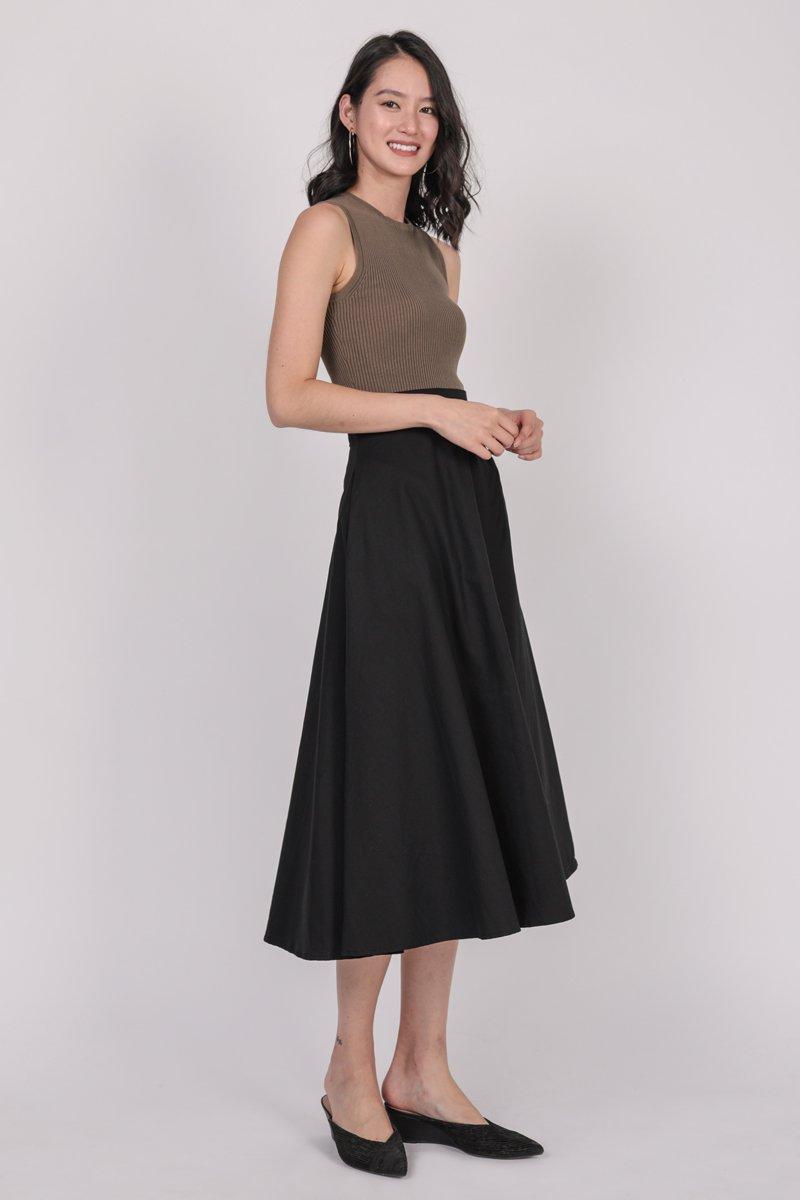 Chance Midi Skirt (Black)