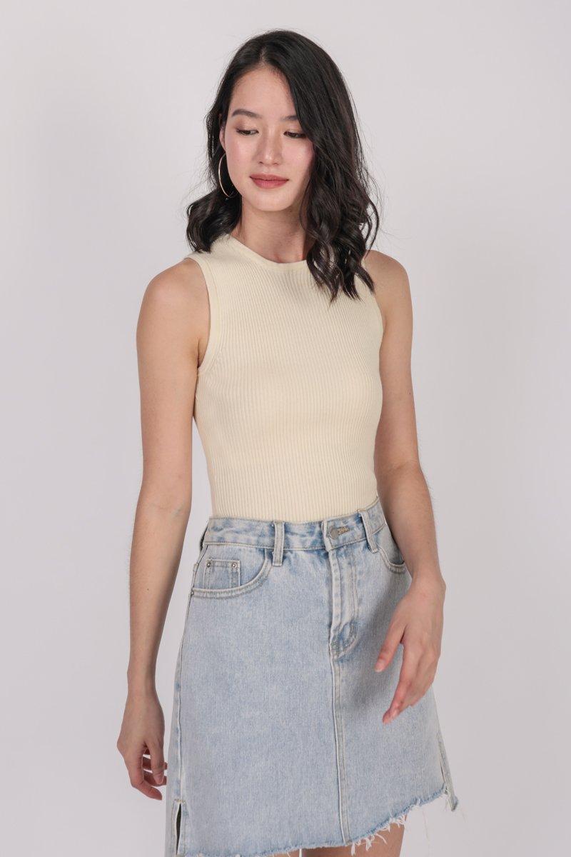 Connie Knit Top (Cream)