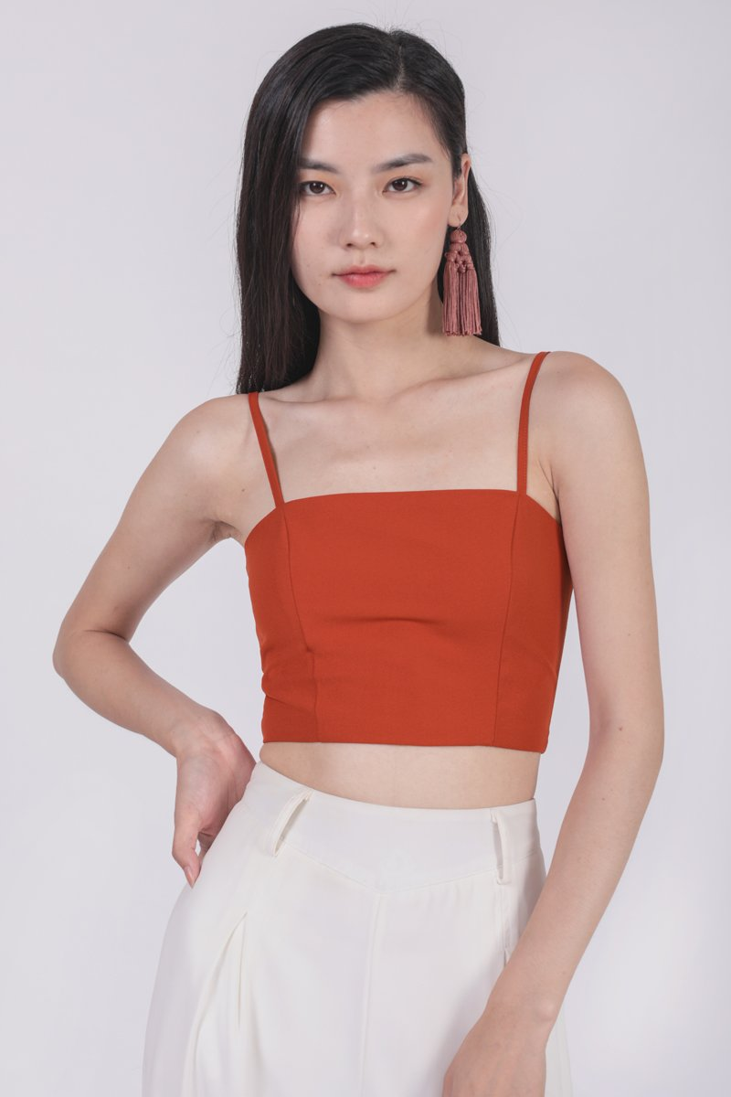 Deon Cropped Top (Tangerine)