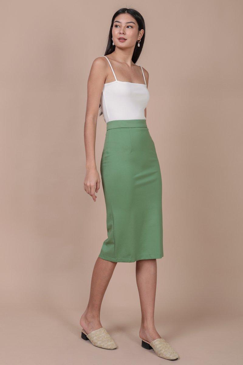 Dunley Midi Skirt (Fern)