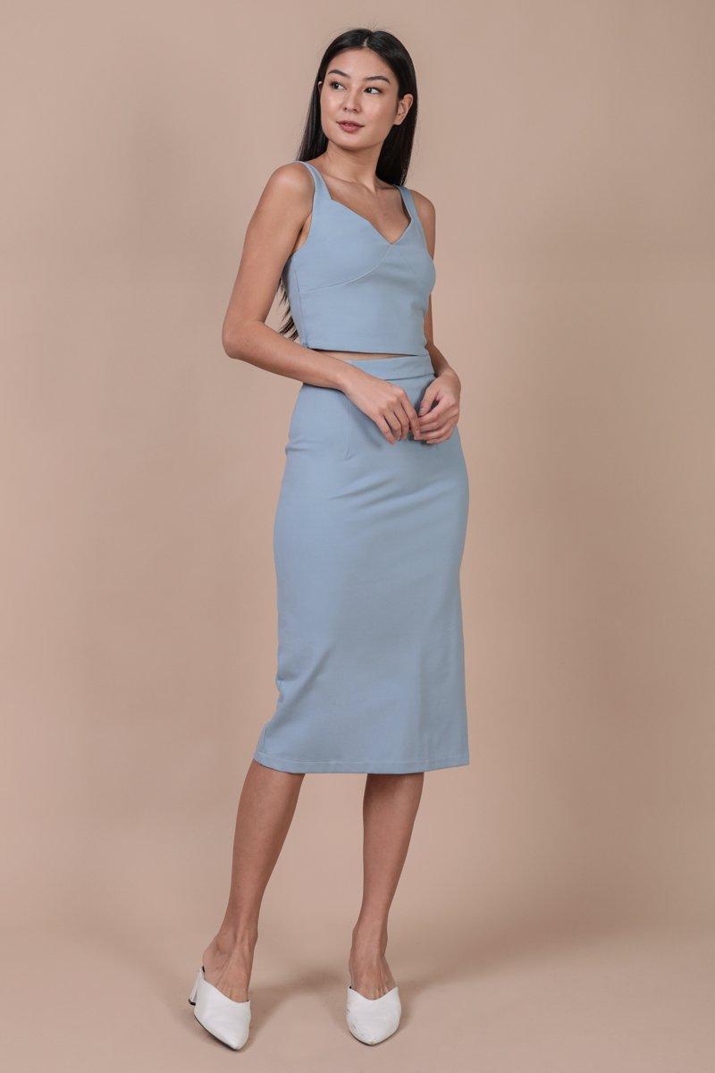 Dunley Midi Skirt (Sky)