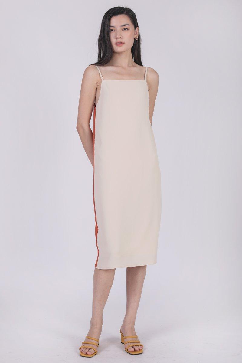 Kandra Two Way Dress (Cream/Orange)