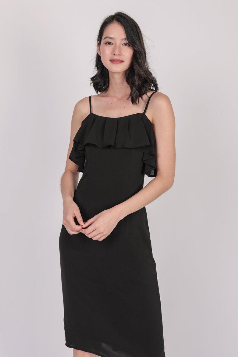 Kerin Ruffles Dress (Black)