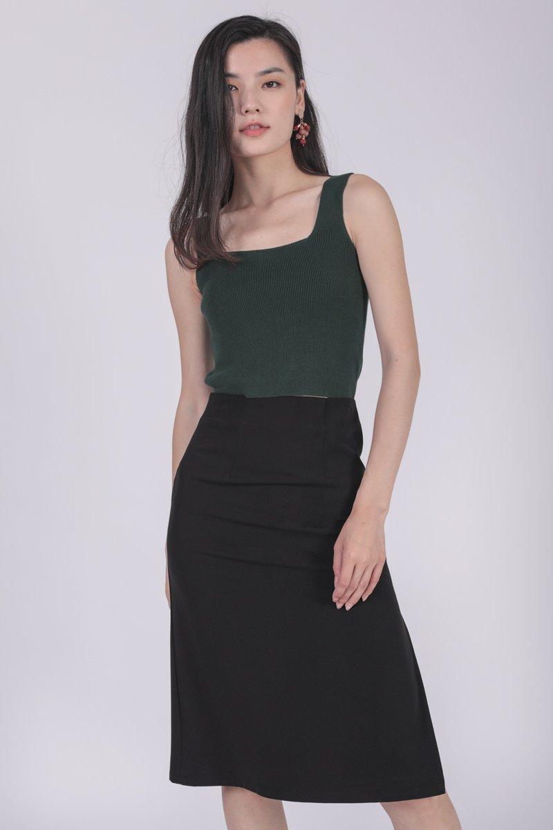 Martha Midi Skirt (Black)