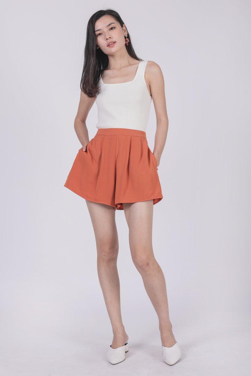 Petal Flare Shorts (Orange)