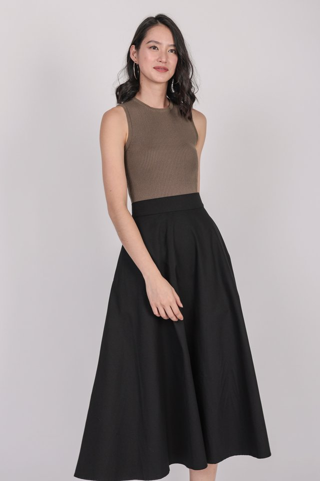 Chance Midi Skirt (Black)