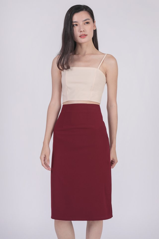 Deon Cropped Top (Cream)