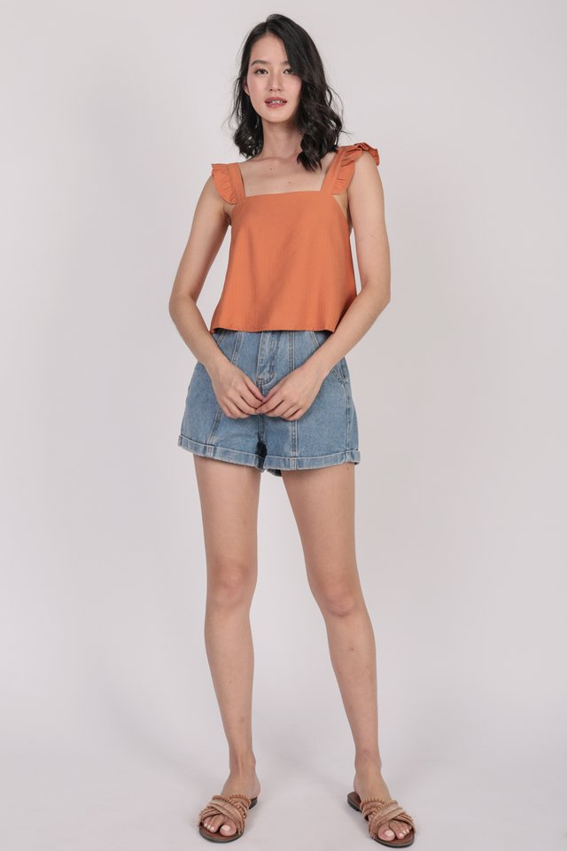 Jess Flutter Top (Orange)