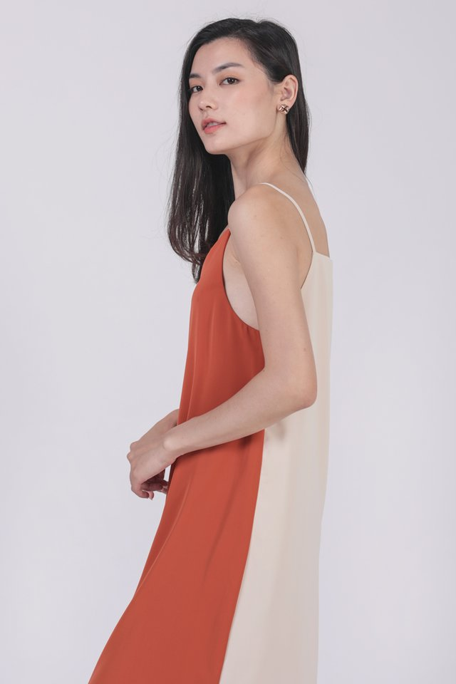 Kandra Two Way Dress (Cream/Orange)