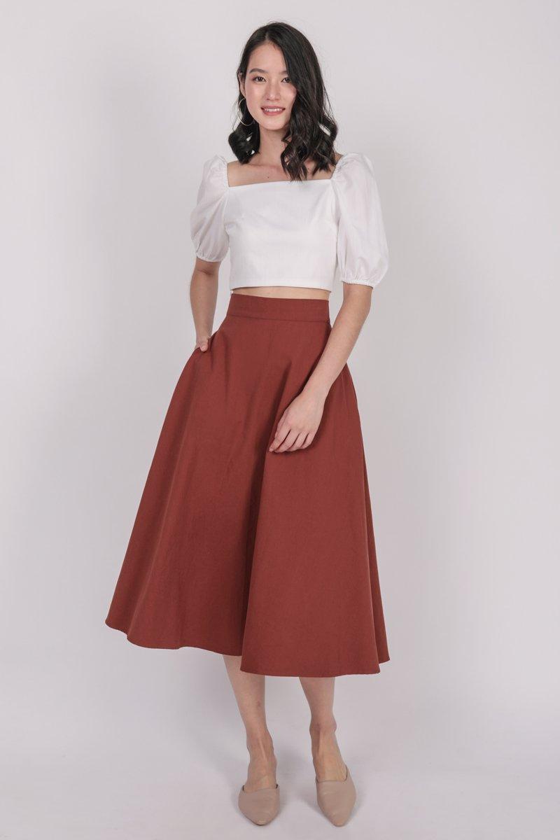 Chance Midi Skirt (Red)