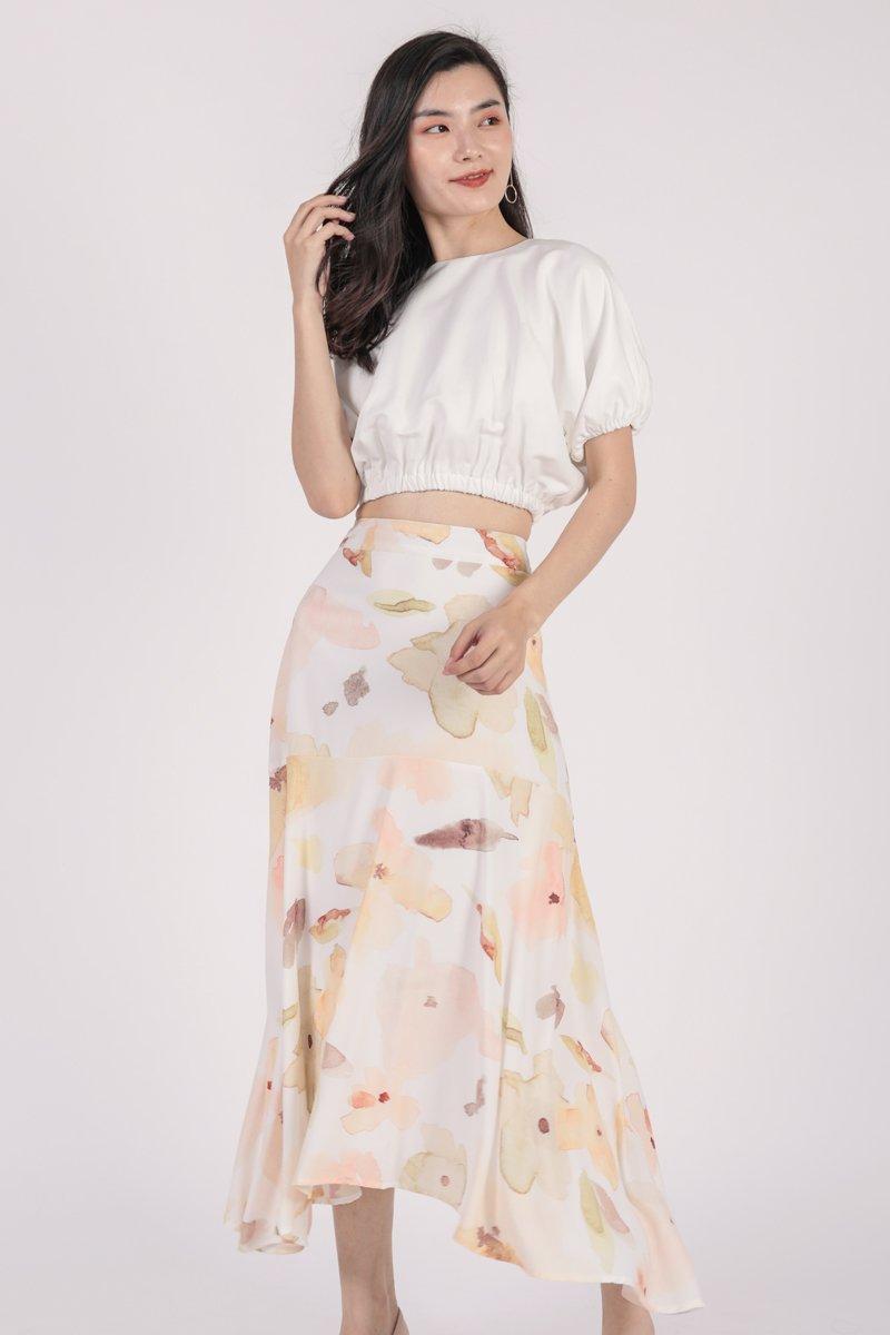 Fiori Midi Skirt (Florescent)