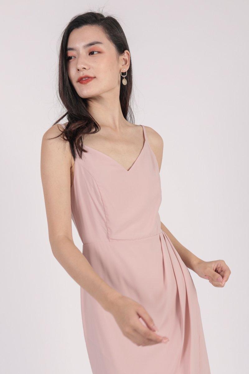 Jessie Wrap Front Dress (Blush)