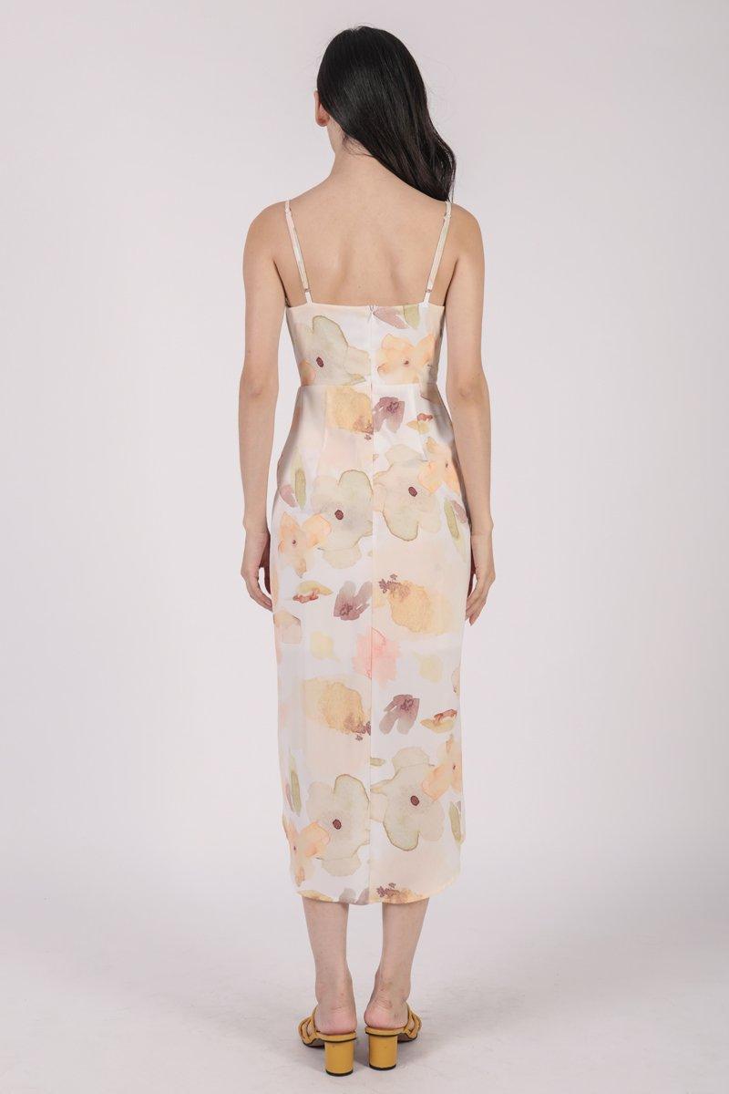 Jessie Wrap Front Dress (Florescent)