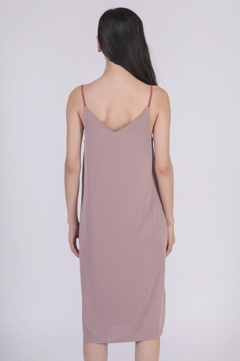 Kandra Two Way Dress (Red/Ash Lilac)