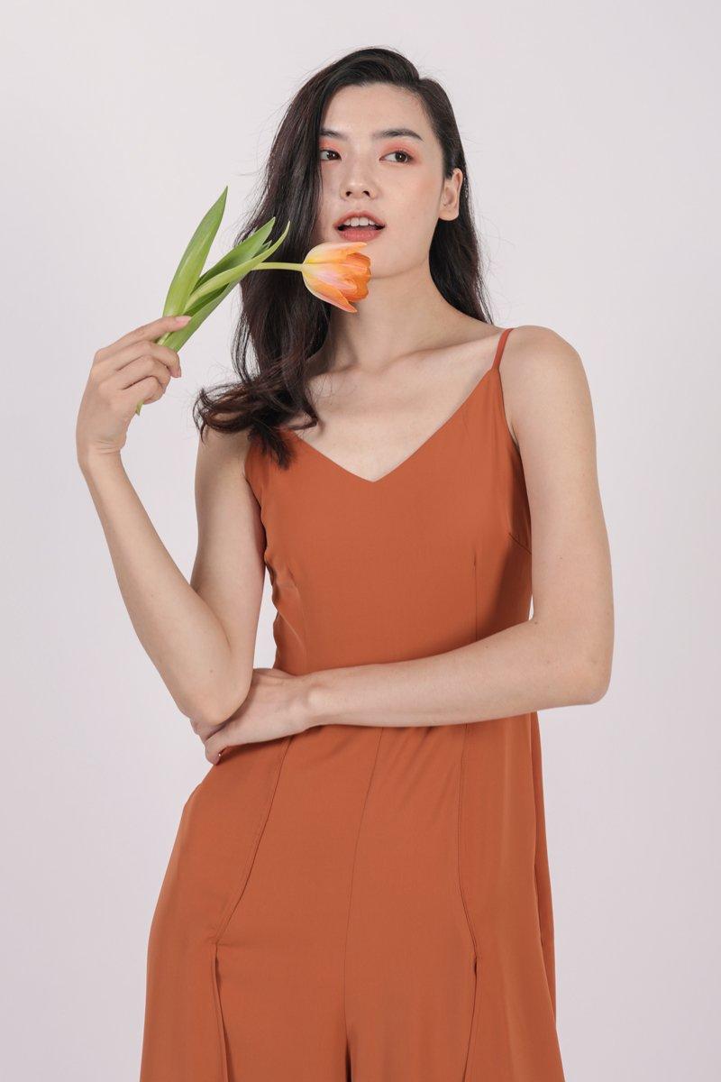 Lynda Jumpsuit (Tangerine)