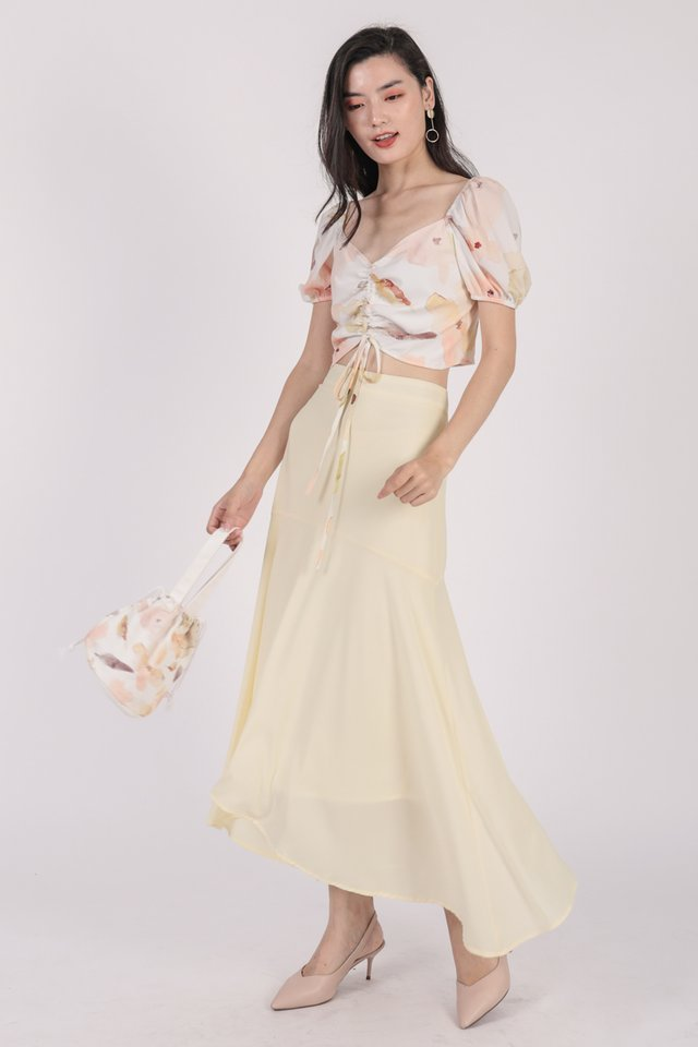 Fiori Midi Skirt (Cream)