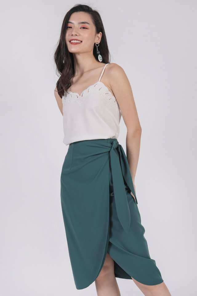 Jun Wrap Skirt (Emerald)