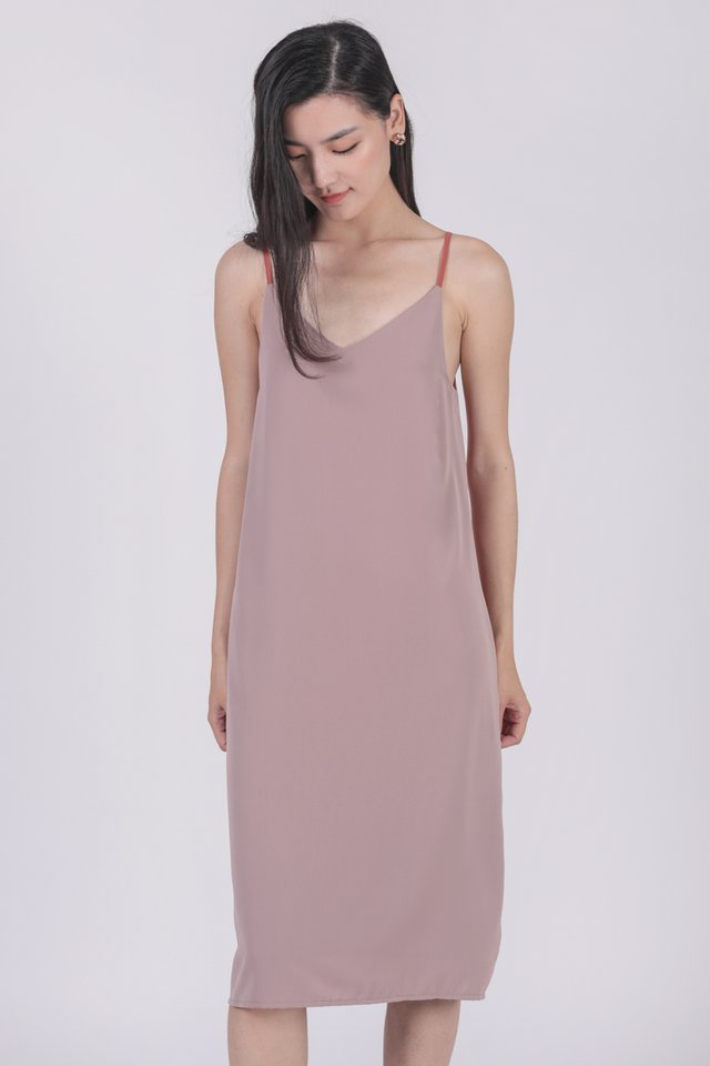 Kandra Two Way Dress (Red/Ash Lilac)