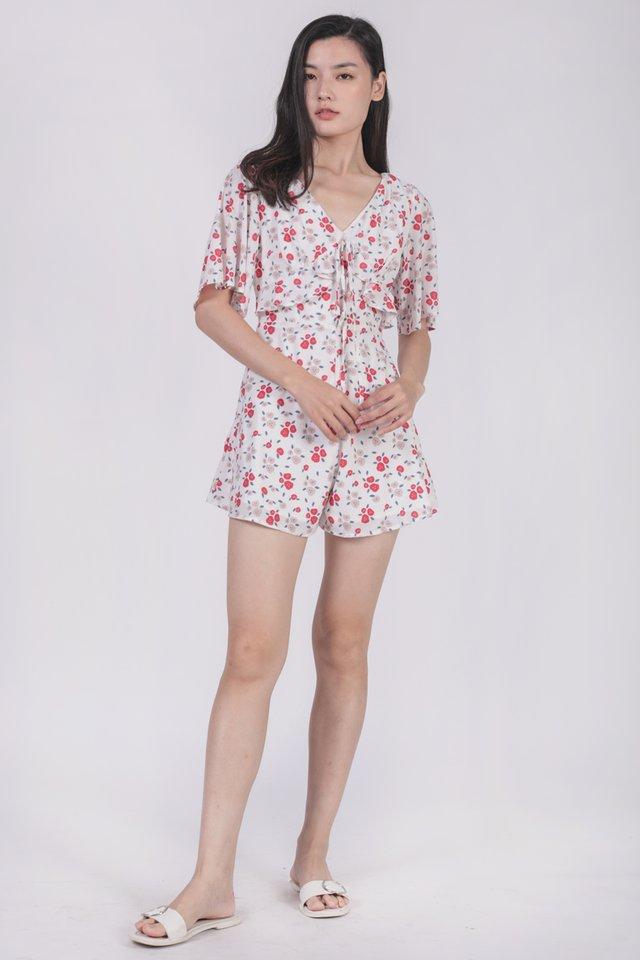 Rosie Sleeved Romper (Rosebuds)