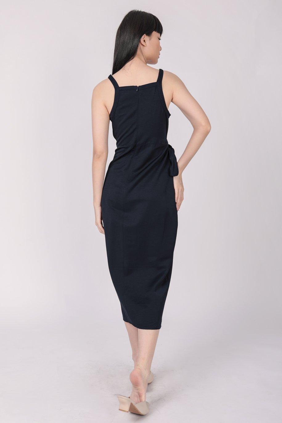 Finley Wrap Dress (Navy)