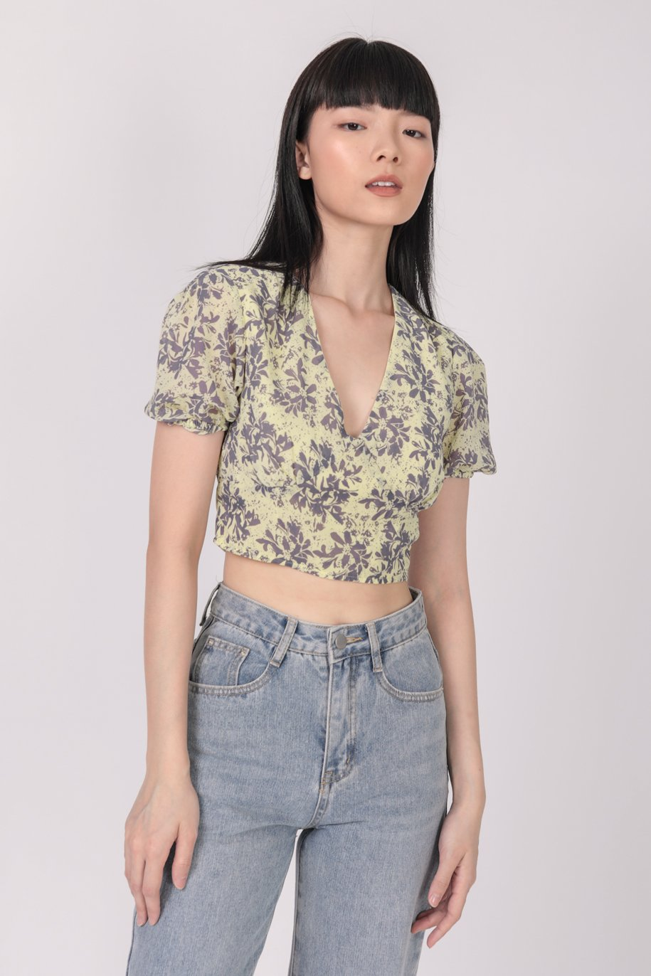 Perci Cropped Top (Hibiscus)