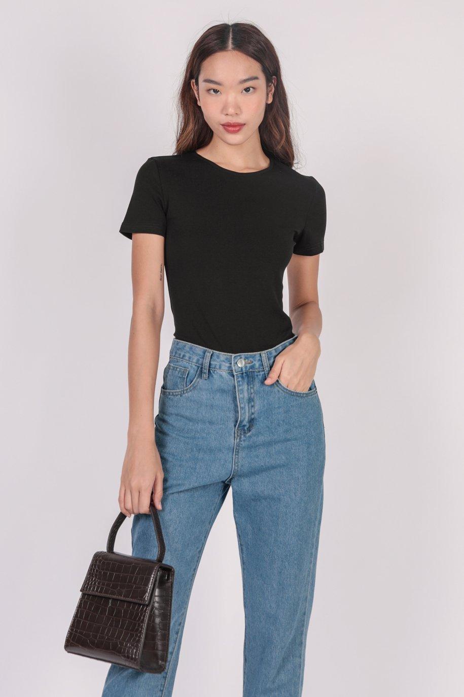 Karol Sleeved Bodysuit (Black)