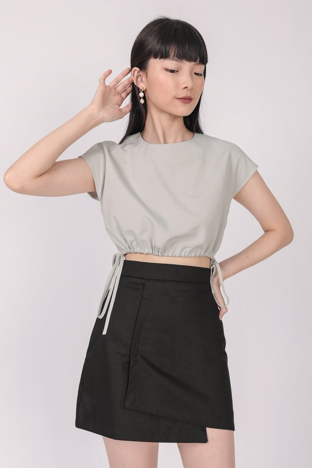 Louie Asymmetrical Skirt (Black)