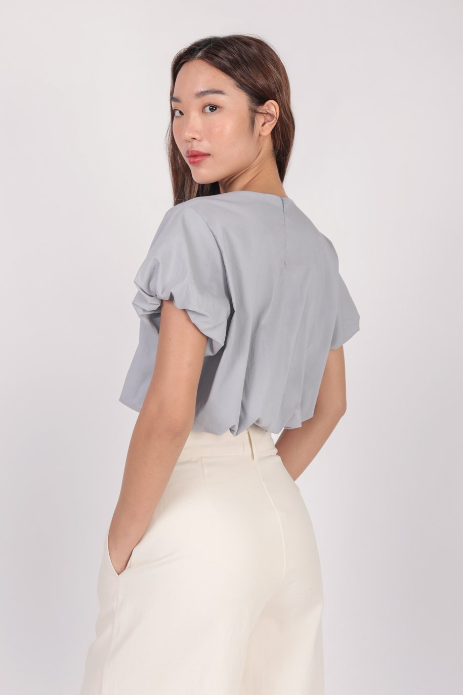 Claude Top (Muted Blue)