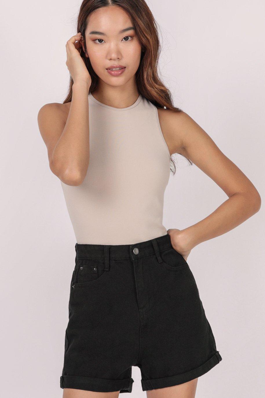 Everyday Denim Shorts (Black)