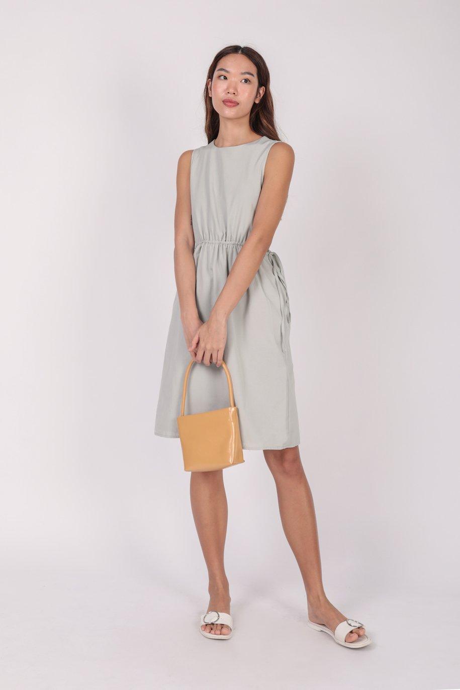 Jonah Cut Out Dress (Light Grey)