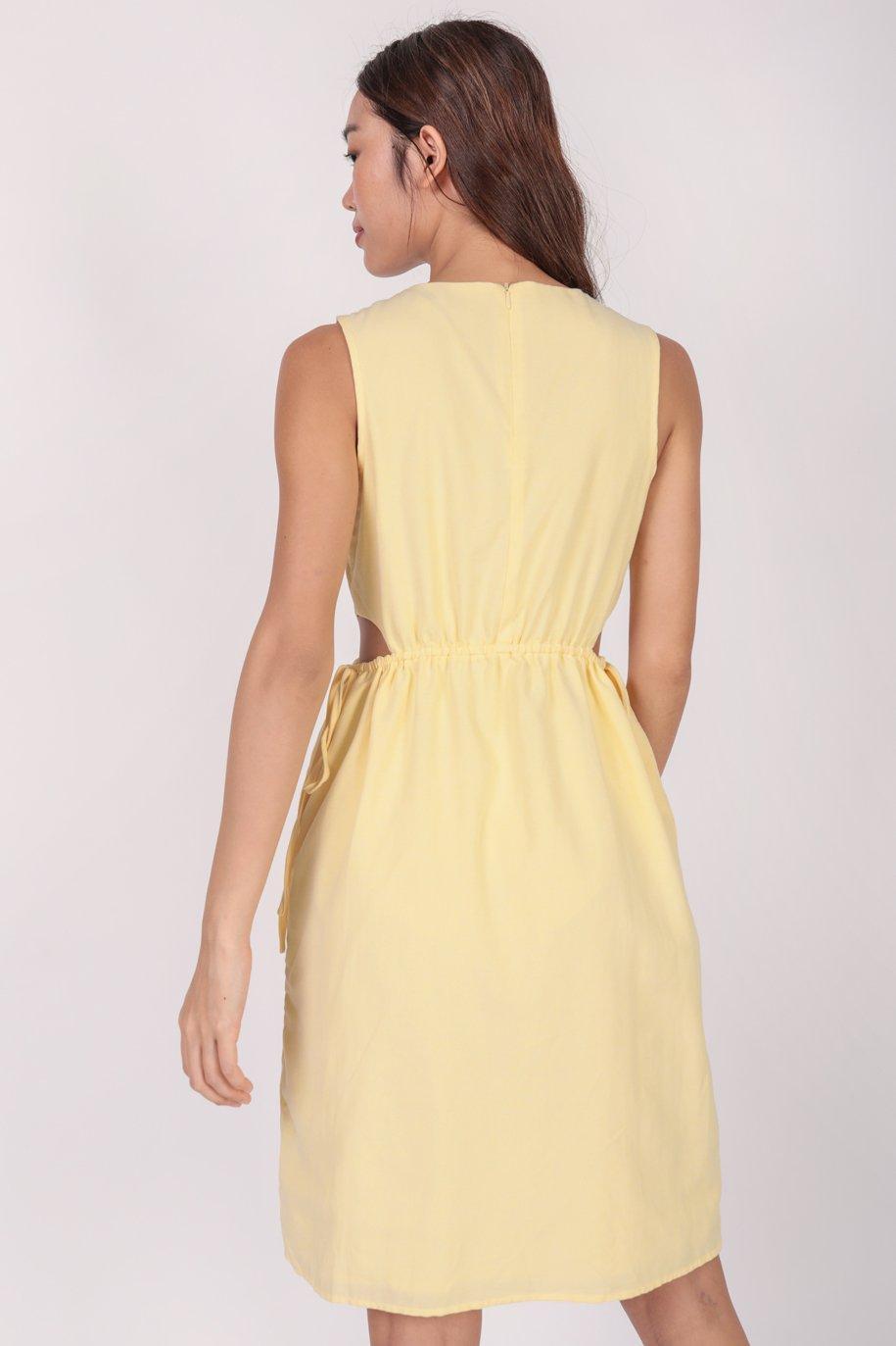 Jonah Cut Out Dress (Yellow)
