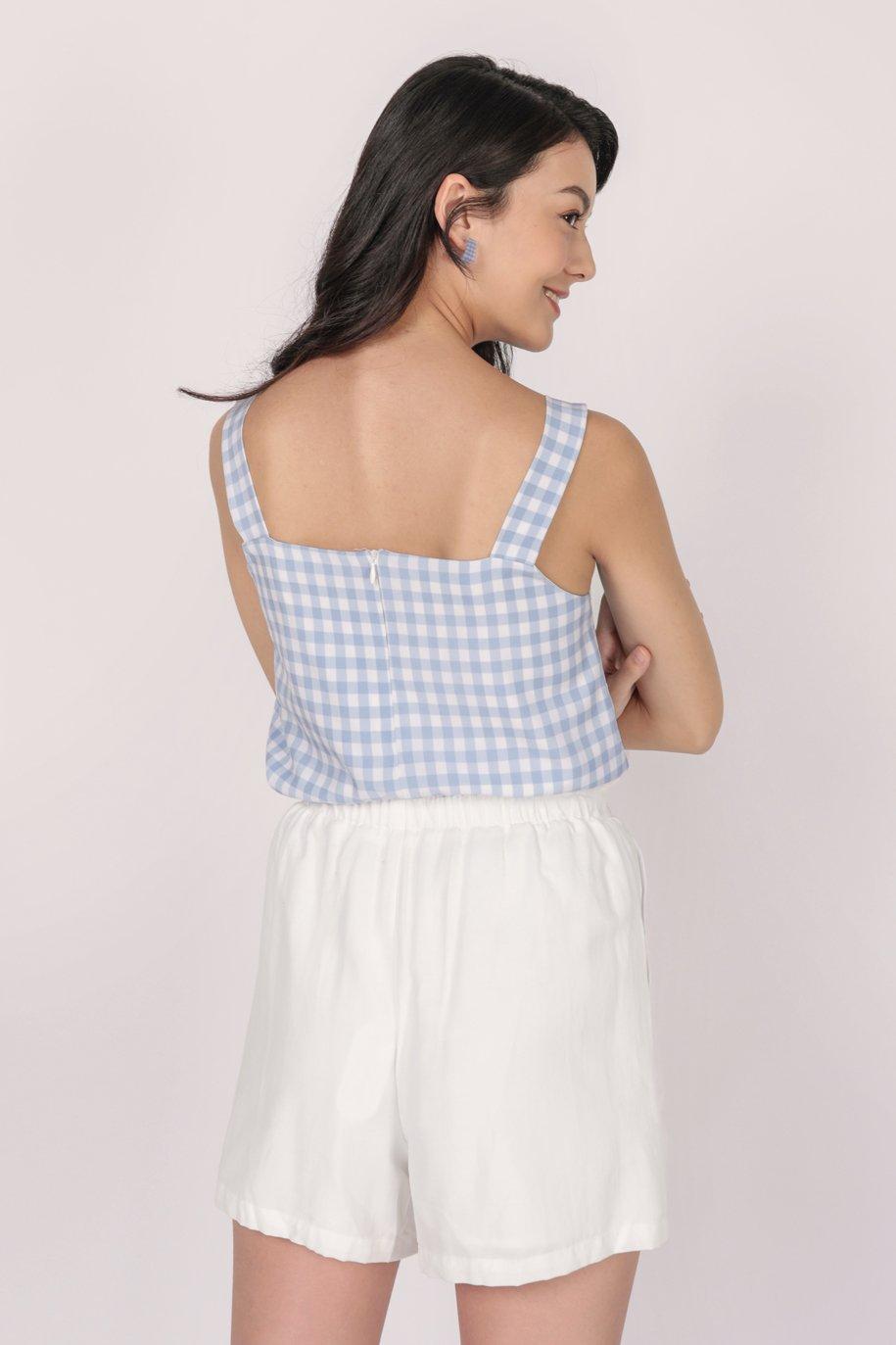 Lexa Basic Top (Blue Gingham)