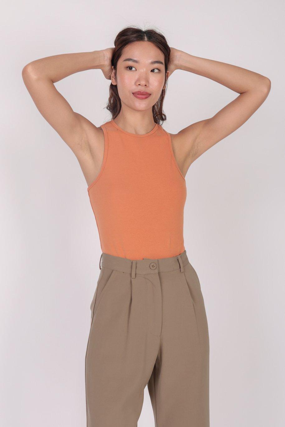 Maddy Racercut Bodysuit (Citrus)