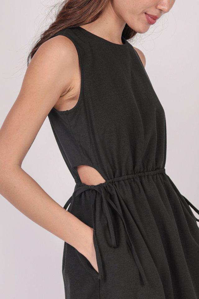 Jonah Cut Out Dress (Black)