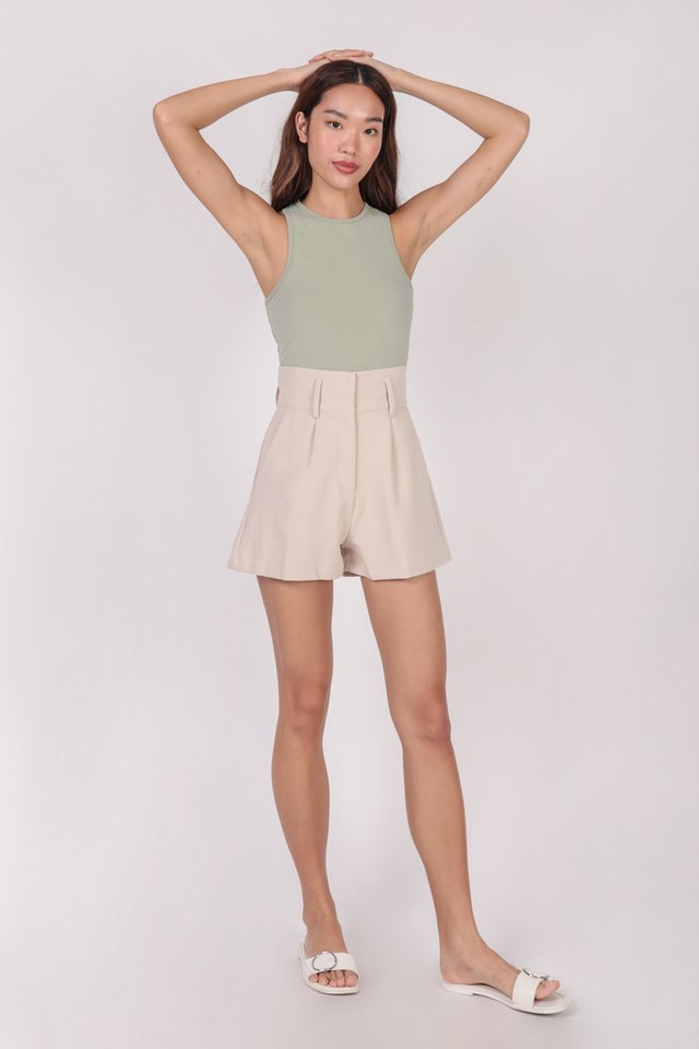 Maddy Racercut Bodysuit (Matcha)