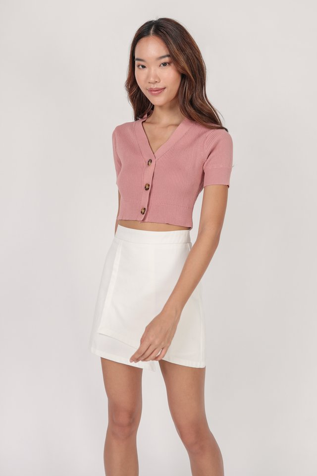 Marcie Button Knit Top (Pink)