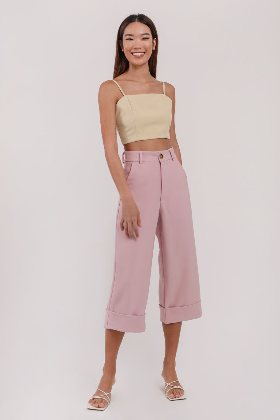 Baxter Cuffed Pants (Pink)