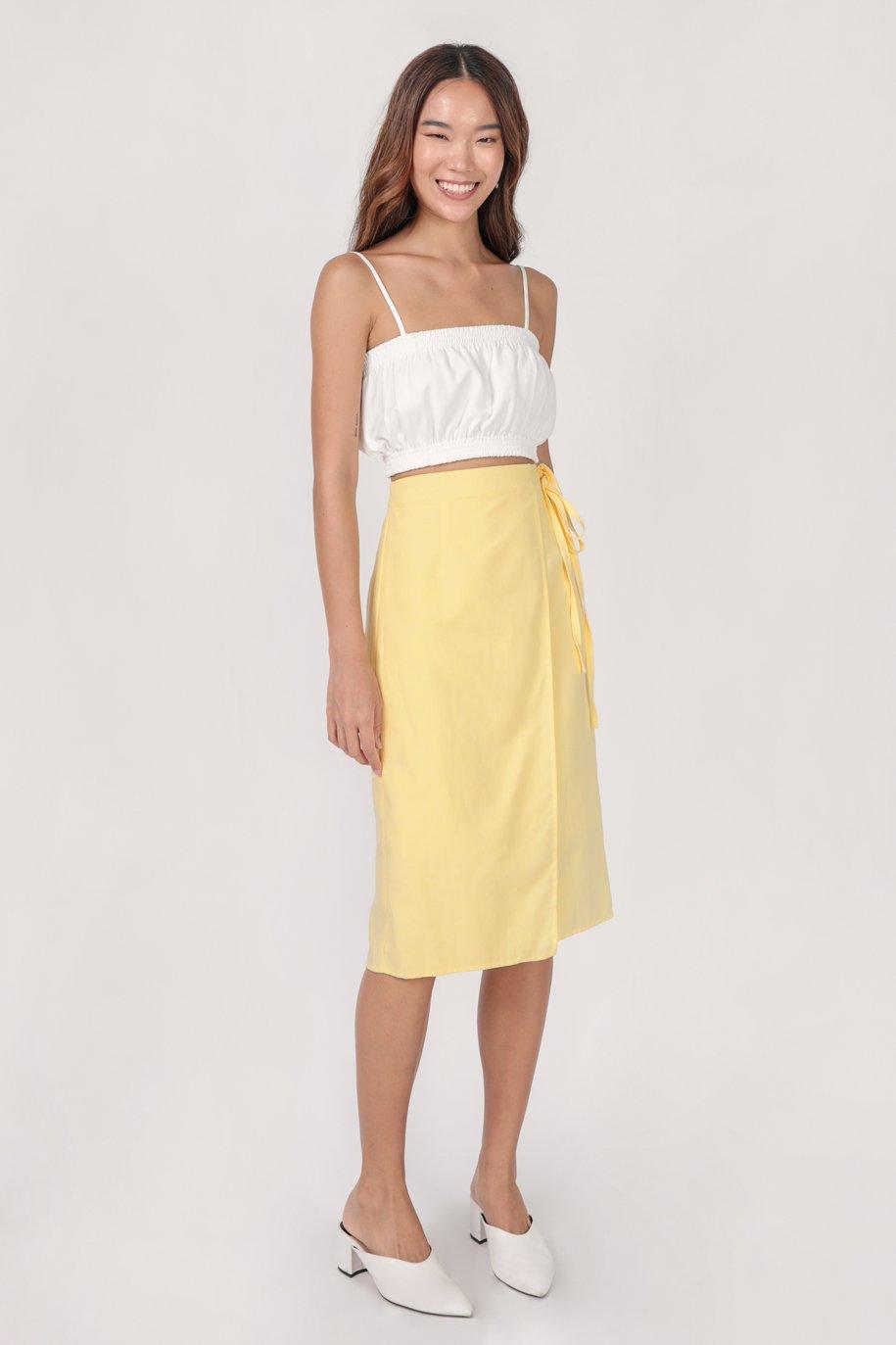 Brighton Midi Skirt (Butter)