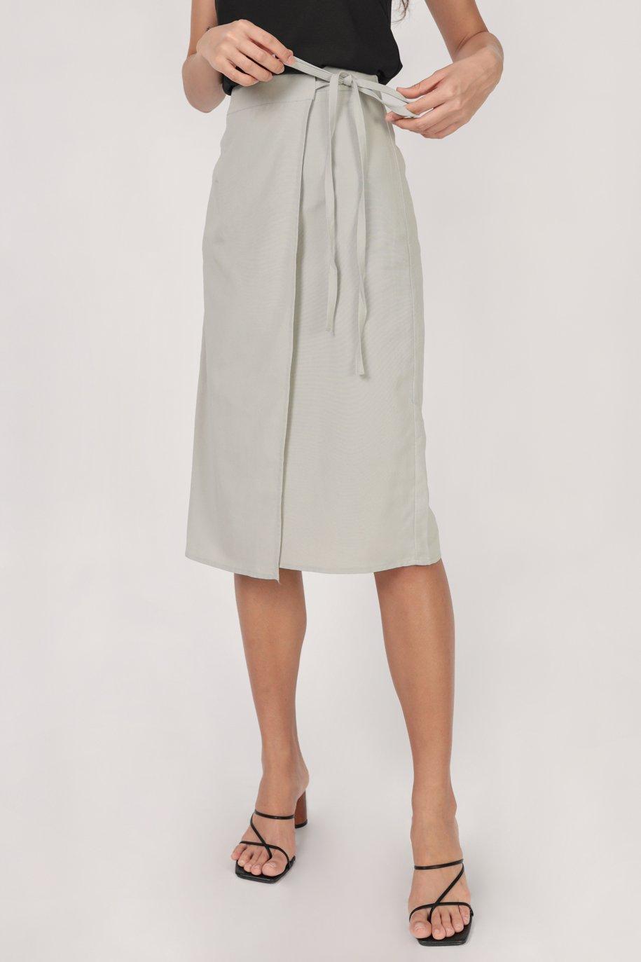 Brighton Midi Skirt (Grey)