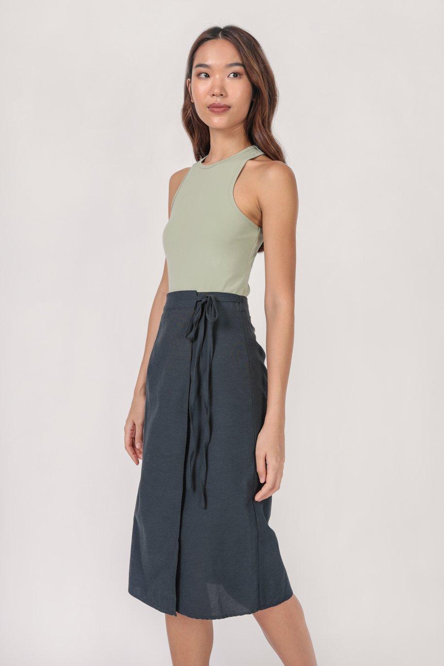 Brighton Midi Skirt (Navy)