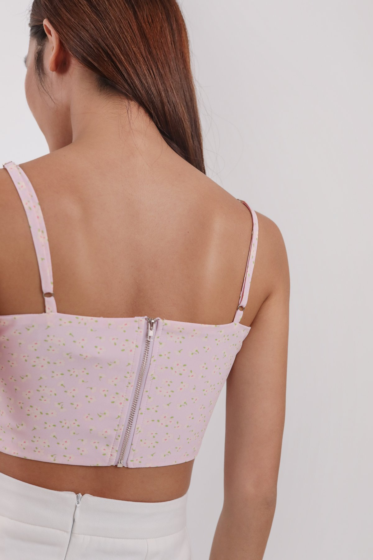 Deon Cropped Top (Pink Daisy)