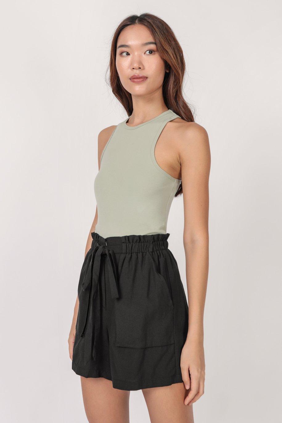 Jed Drawstring Shorts (Black)